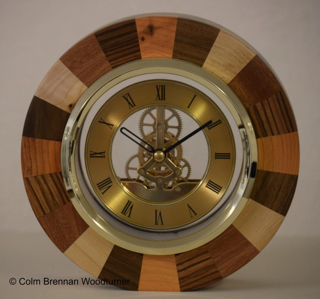 Segmented Skeleton Clock Colm Brennan Woodturner 070